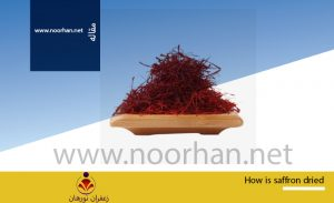 How is saffron dried